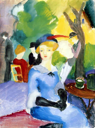 August Macke - Figures in the park