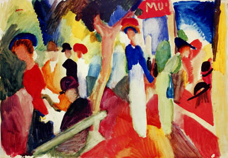 August Macke - Hat Shop on the Promenade