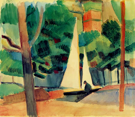 August Macke - Hilterfingen am Thuner See