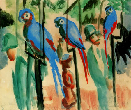 August Macke - At the parrots