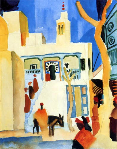 August Macke - View of a mosque