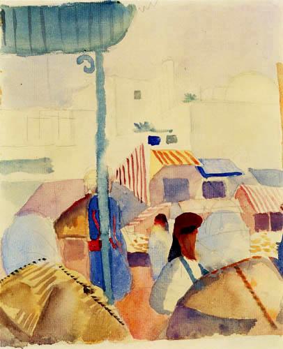 August Macke - Market in Tunis II