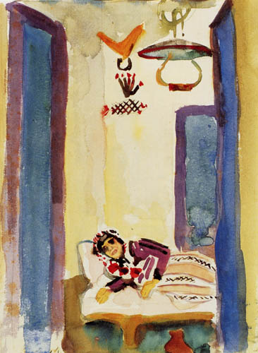 August Macke - Woman on the bed