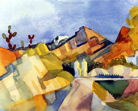 August Macke - Rocky landscape
