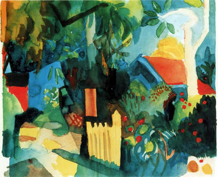 August Macke - Landscape with tree