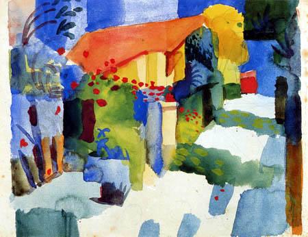 August Macke - Haus mit Garten