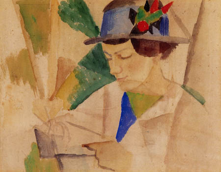 August Macke - Wife of painter