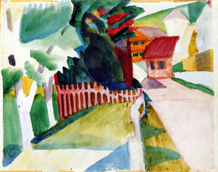 August Macke - Village route