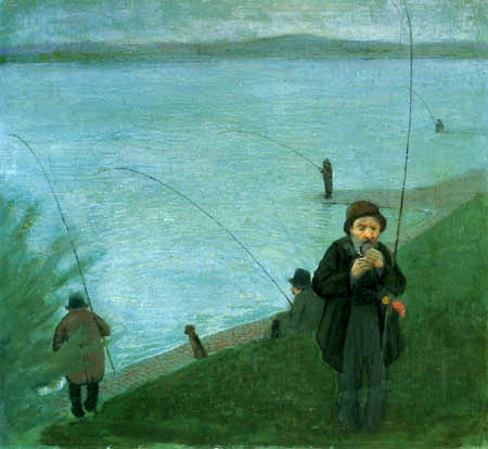 August Macke - Anglers on the Rhine