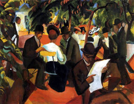 August Macke - Gartenrestaurant