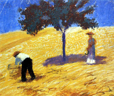 August Macke - A tree in a cornfield