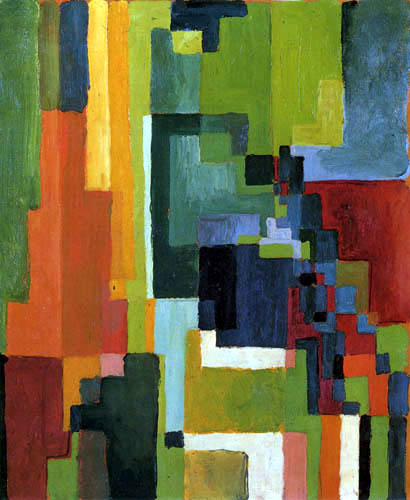 August Macke - Coloured Forms II