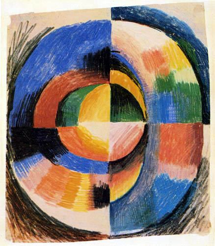 August Macke - Color circle II, large