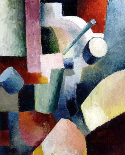 August Macke - Coloured Form Composition