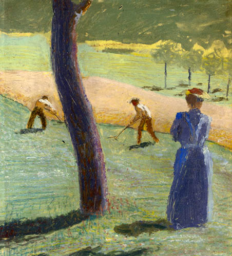 August Macke - Workers on the field at Kandern