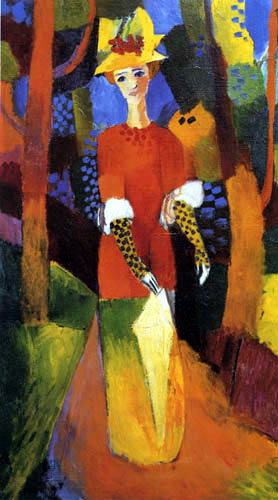 August Macke - Woman in the park