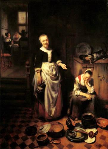 Nicolaes Maes - Die schlafende Küchenmagd