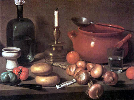 Carlo Magini - Still life with a candlestick and onions