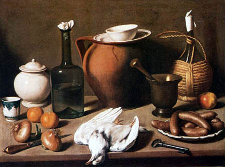 Carlo Magini - Still life with bird and sausages
