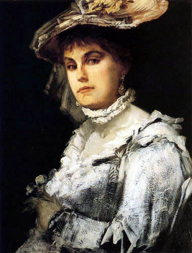 Hans Makart - Portrait of Amalie