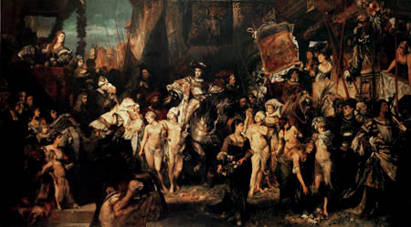 Hans Makart - The Invasion of Charles V
