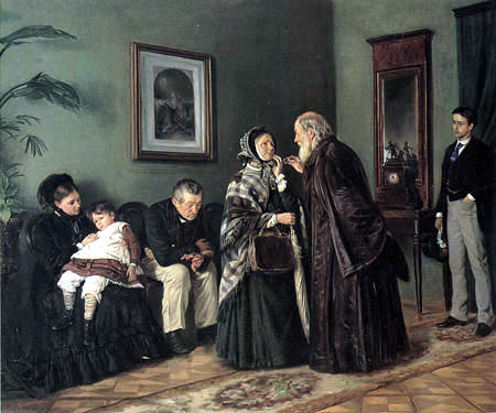 Vladimir Yegorovich Makovsky - In the waiting room of the physician