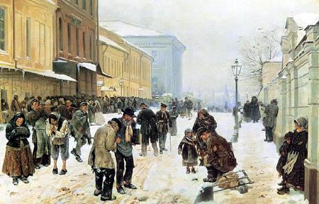 Vladímir Yegórovich Makovski - Asilo de la noche