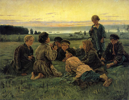 Vladimir Yegorovich Makovsky - Peasant Boys Watching the Horse