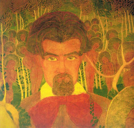 Kazimir Severinovich Malevich - Study for a fresco, Selfportrait