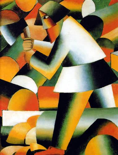 Kazimir Severinovich Malevich - The Lumberman