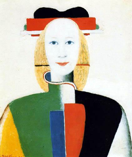 Kazimir Severinovitch Malevitch - Jeune fille avec un peigne dans ses cheveux