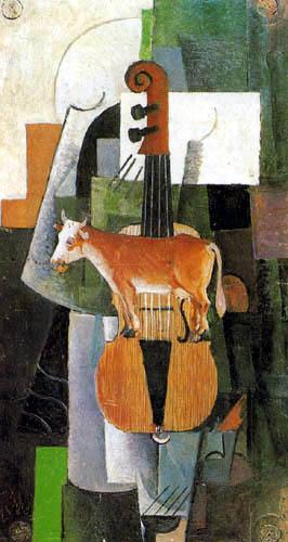 Kasimir Severínovich Malévich - Vaca y violín