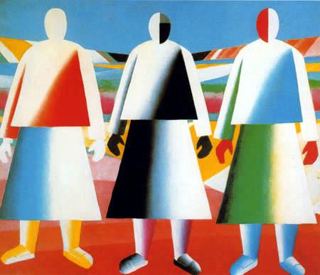 Kazimir Severinovich Malevich - Girls on the Field