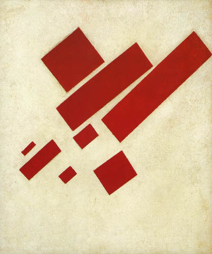 Kazimir Severinovich Malevich - Eight Rectangles - Red on White