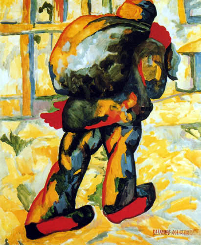 Kazimir Severinovich Malevich - Man with a Sack on his Back