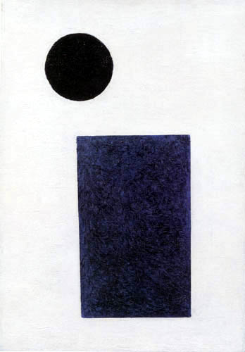 Kazimir Severinovich Malevich - Blue Rectangle and Black Circle