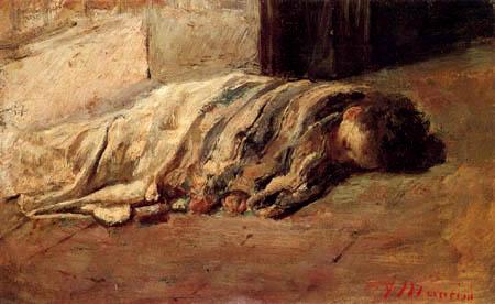 Antonio Mancini - Sleeping boy