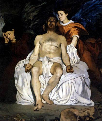 Edouard Manet - Christus zwischen zwei Engeln