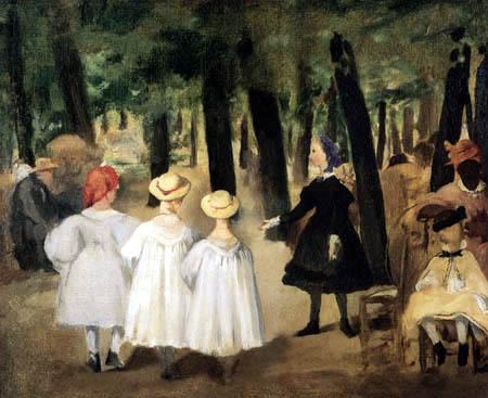 Edouard Manet - Kinder in den Tuilerien