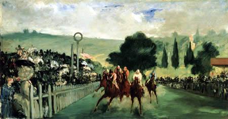 Edouard Manet - Horse racing, Longchamp