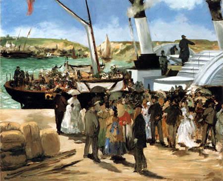 Edouard Manet - Die Abfahrt nach Folkstone