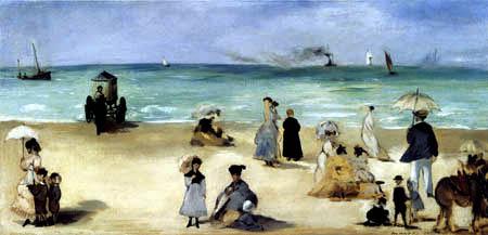 Edouard Manet - Der Strand von Boulogne-sur-Mer