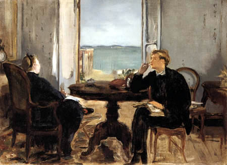 Edouard Manet - Interieur in Arcachon