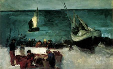 Edouard Manet - Fischerboote bei Berck-sur-Mer