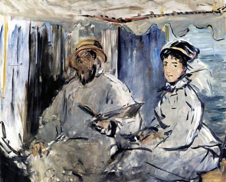 Edouard Manet - Monet in seinem Atelier