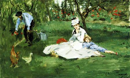 Edouard Manet - Familie Monet im Garten Argenteuil