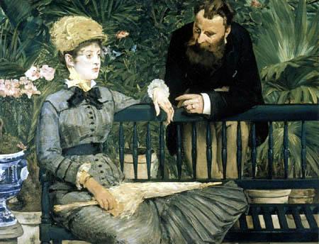 Edouard Manet - Dans le jardin d'hiver