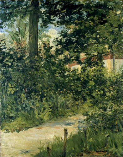 Edouard Manet - Gartenallee in Rueil
