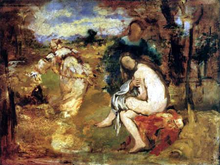 Edouard Manet - Nymphe nach dem Bade, Studie