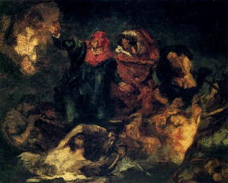 Edouard Manet - Dantebarke, Kopie nach Delacroix
